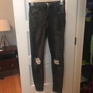 Topshop Jamie Distressed Skinny Jeans Size 26